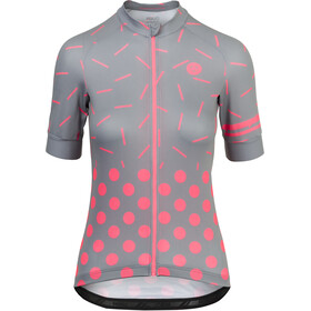 AGU Sprinkle Dot Short Sleeve Jersey Women grey/coral